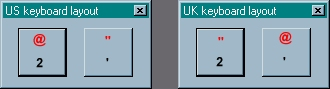Differences between UK and US keyboard keys